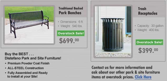 <center>PARK & SITE<br><b>Overstock Items at Reduced Prices!</b></center>